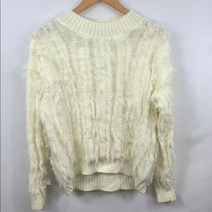 Ro&De Allover Eyelash Sweater size medium